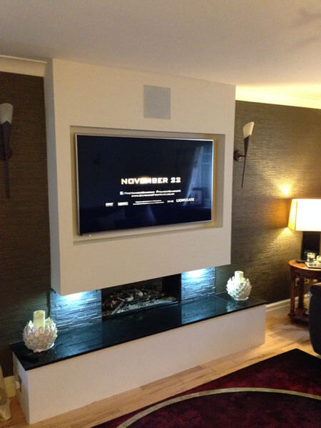 TV wall mount Airdrie TV wallmount with in wall speakers