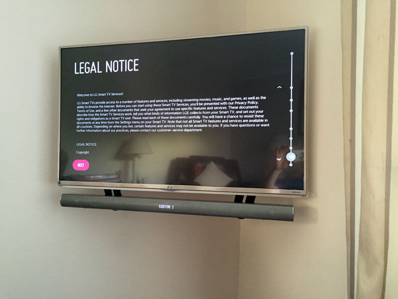 TV wall mount East Kilbride TV soundbar install
