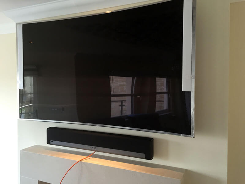TV wall mount Newton Mearns - TV soundbar install