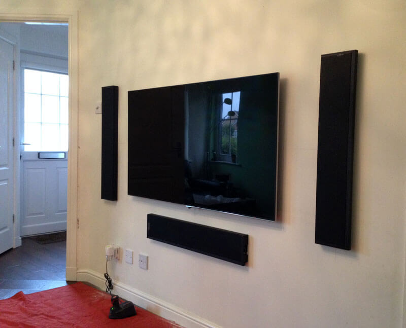 TV wall-mount Stepps - TV speaker install