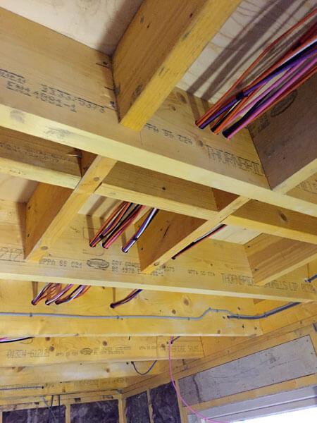 Custom pre-wiring Argyle new build AV cables