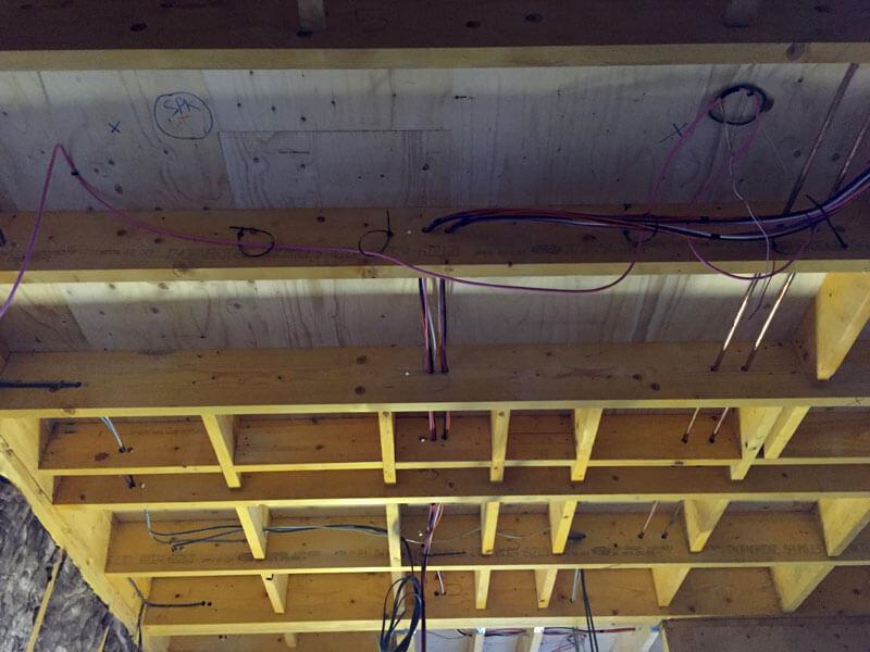 custom pre-wiring pre wire cable path