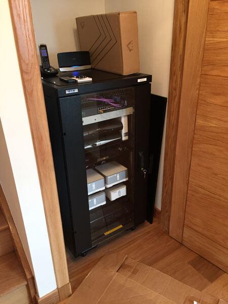 HDTV installs Argyle AV rack