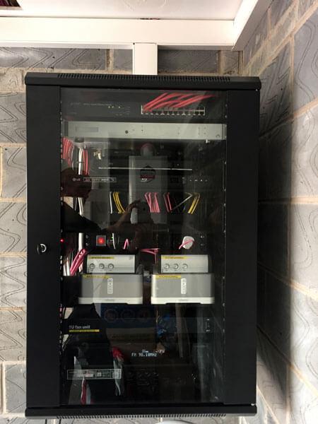 HDTV installs Bishopbriggs AV rack