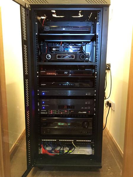 HDTV installs Cambuslang AV rack