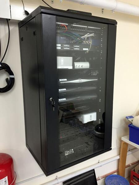 HDTV installs Lenzie AV rack
