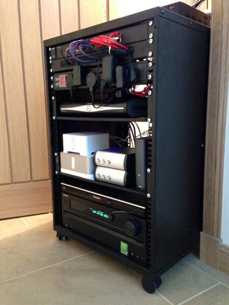 HDTV installs Stewarton AV rack