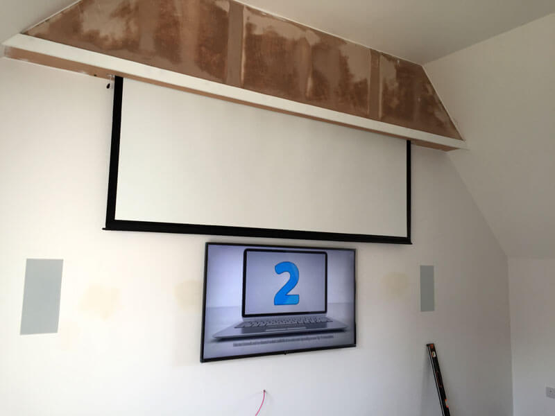 Home cinema install Bearsden - custom cinema installation