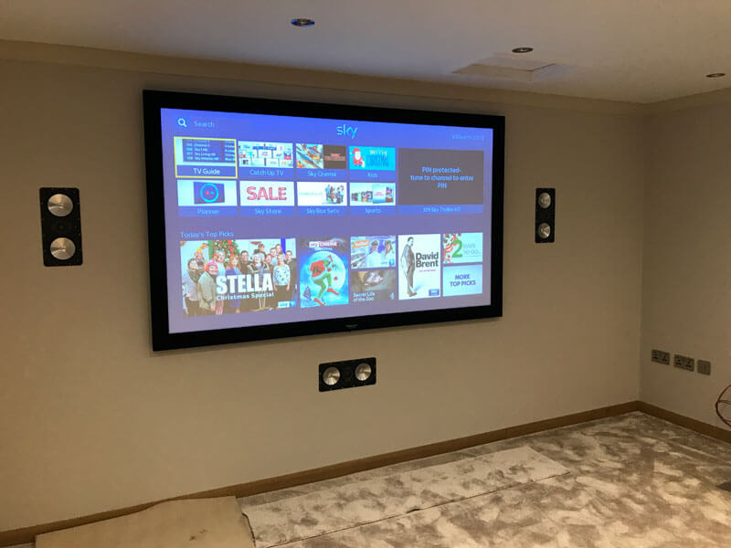 Home cinema install Bearsden - home cinema installation