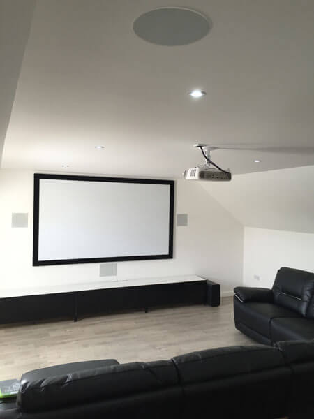 Home cinema install - Lanark cinema room in loft