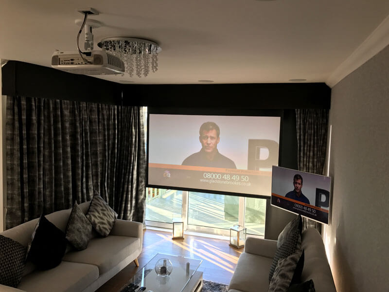 Home cinema install Lanark - In ceiling speakers