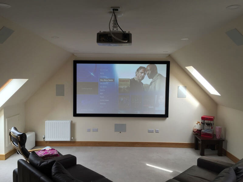 home cinema install - Milngavie cinema room
