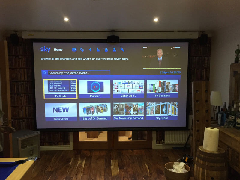 Home cinema install - Newton Mearns projector installation