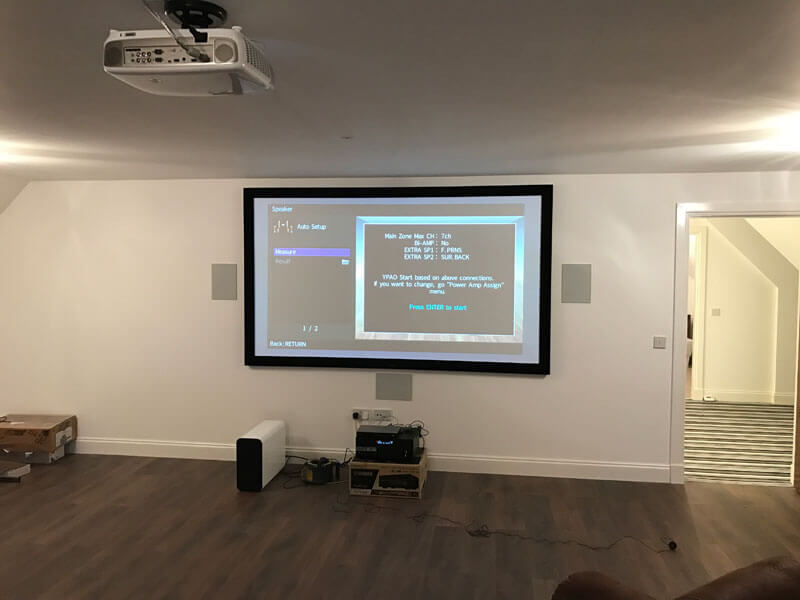 home cinema install - Stonehouse cinema install