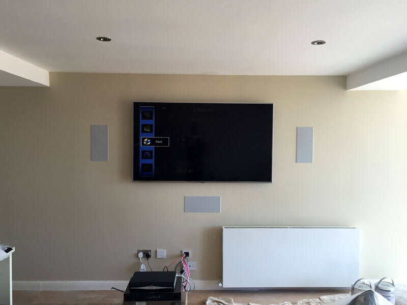 surround sound install Glasgow west end TV wall mount with surround sound