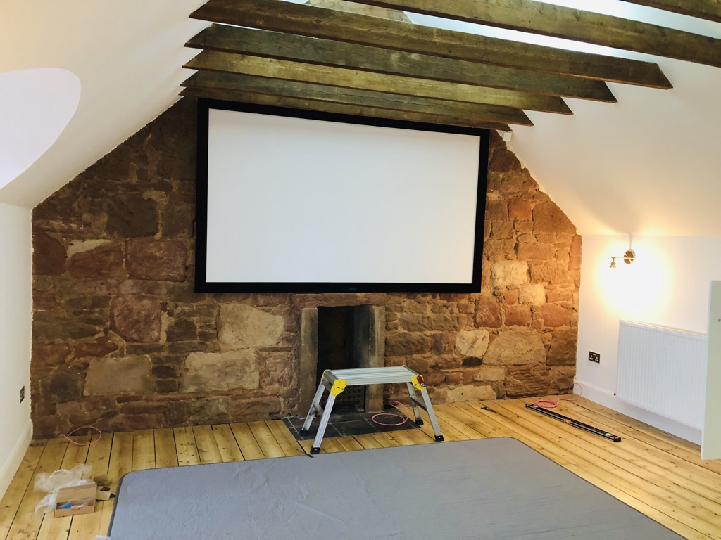 cinema screen home installation